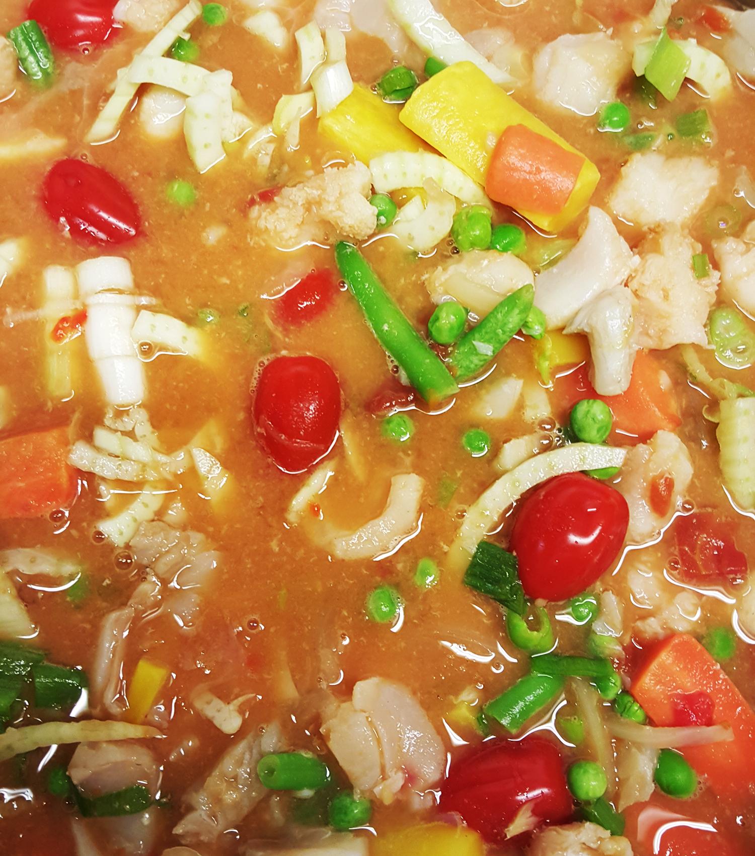 Gørr Go Rød Tomatisert Fiskesuppe