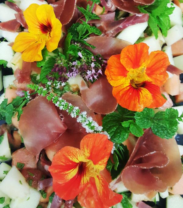 Melon og skine salat