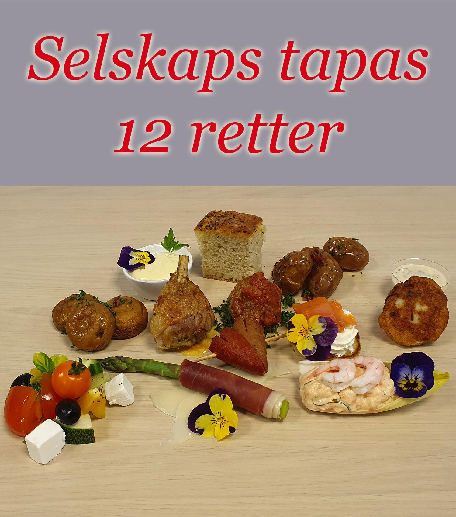 Selskaps Tapas 12 Retter